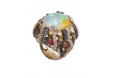 With opal and tourmaline, in October, beauty and mystery meet a rain of colors